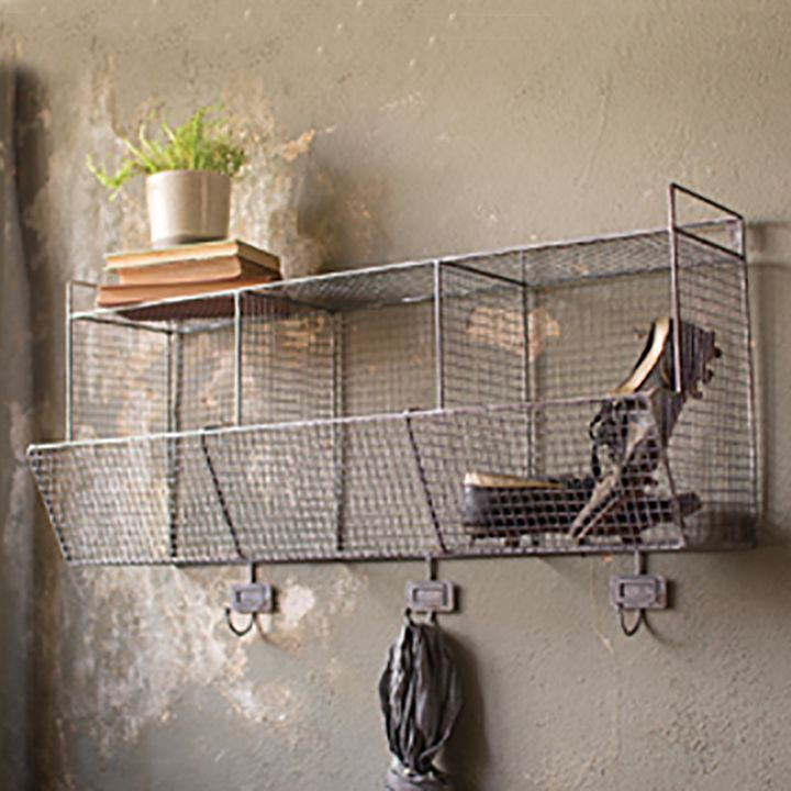 Reminiscent Of Vintage Gym Locker Room Bins, This Retro Style Wire Wall  Storage Shelf Offers The Perfect Solution For Just About Anything.