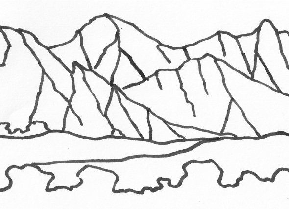 Make And Take Mountain Mosaic Mountain Coloring Pages And