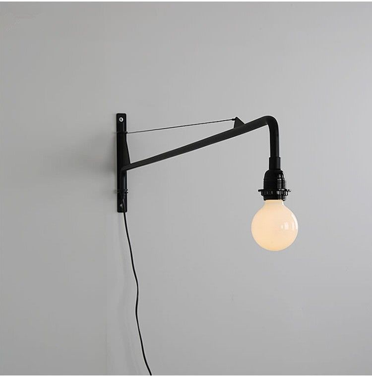 Qiseyuncai Designer Industrial Wind Potence Wall Light Northern Europe Industry Retro Aisle Long Rod Cantilever Wall Lam Wall Lights Desk Lamp Design Wall Lamp