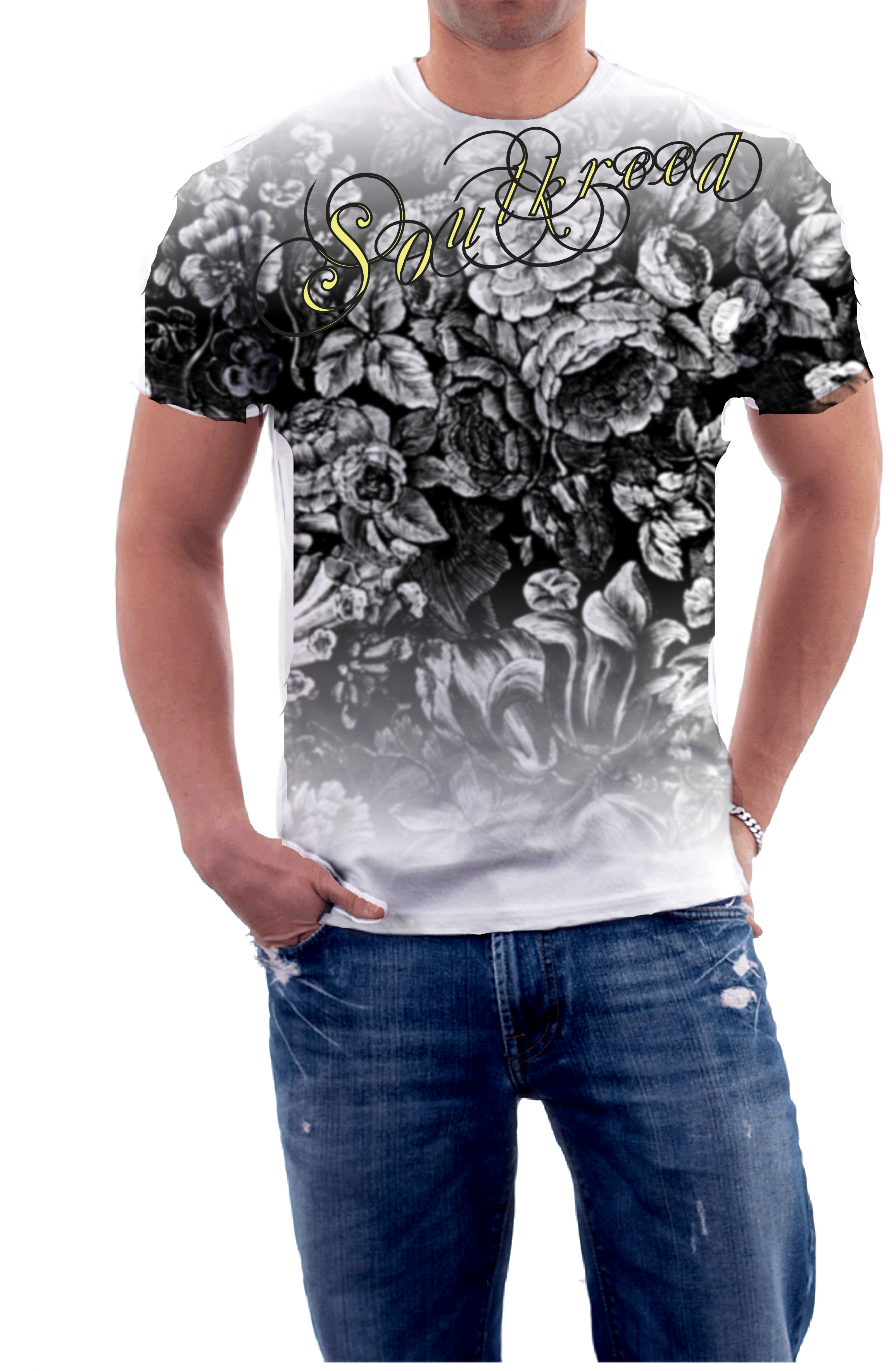 Floral Design.This will be available this xmas. 100% cotton, short sleeve  tshirt. Mens tattoo tshirt, mens fashion, affliction, mens tshirts, ...