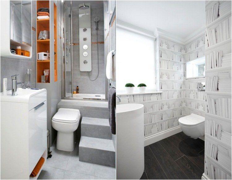 Comment agrandir la petite salle de bains \u2013 25 exemples Bath