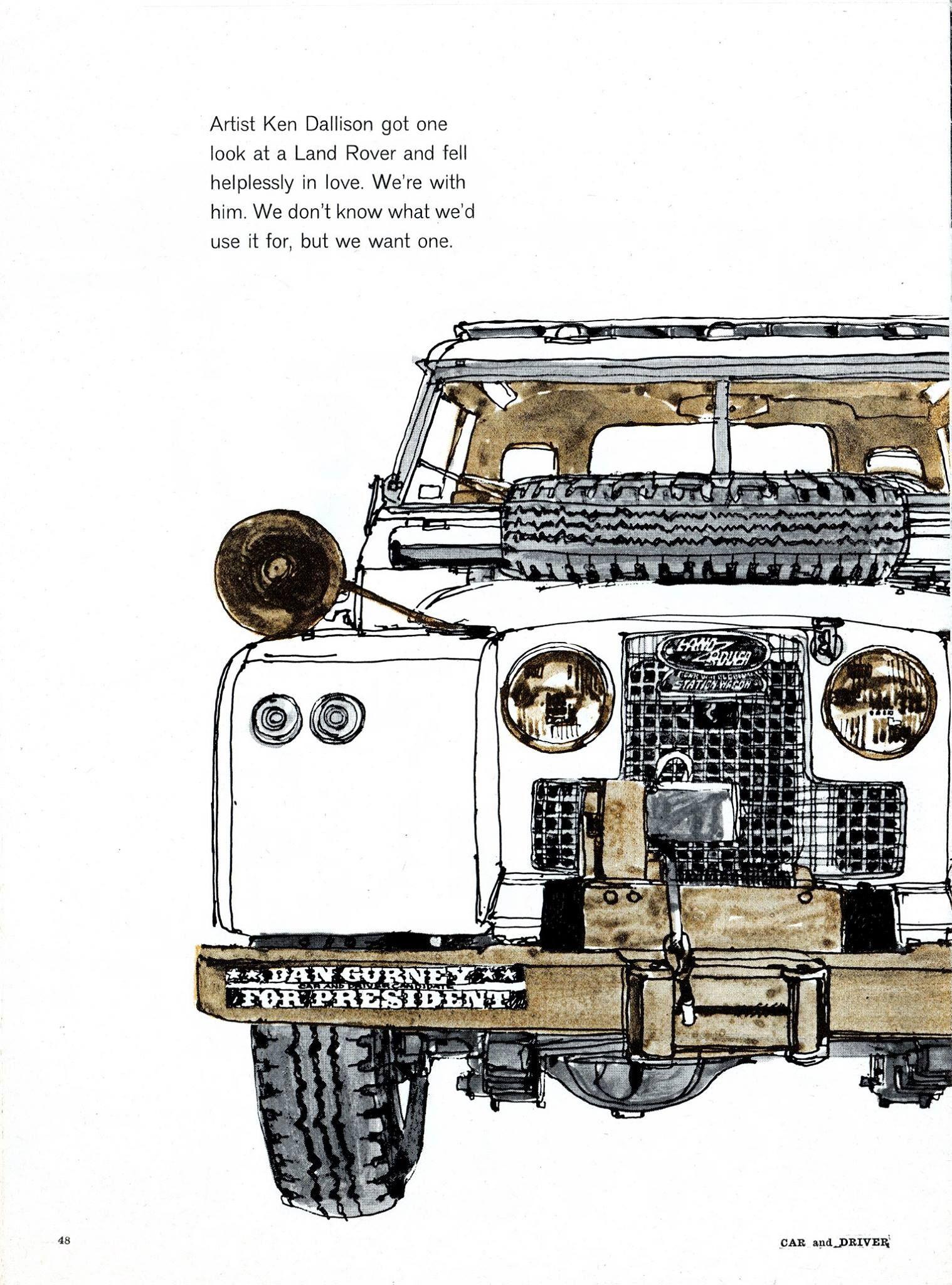 Ken Dallison, Car and Driver Magazine, Sep 1964 1518×2048 пикс