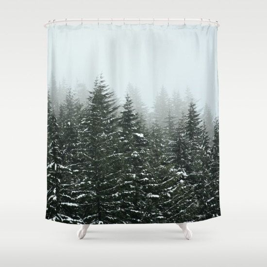 Shower Curtain Bathroom Wilderness Rustic Home Decor Pacific Northwest Winter Storm Mountains Photography Rd With Images Curtains Shower Curtain Printed Shower Curtain