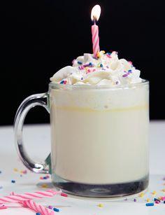 Birthday Cake Hot Chocolate Recipe Birthday cakes Chocolate and