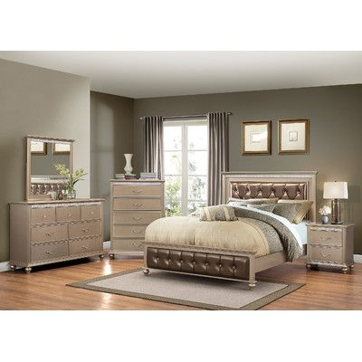 Willa Arlo Interiors Almerton Panel Customizable Bedroom Set