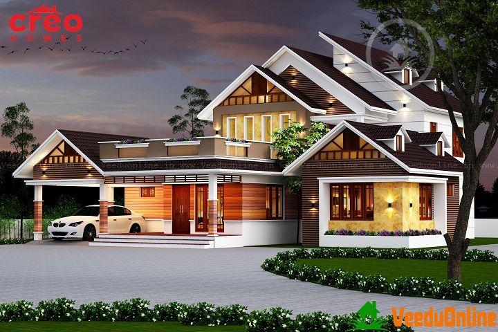 Excellent Double Floor Kerala Home Designs Unique House Plans Kerala House Design Latest House Designs