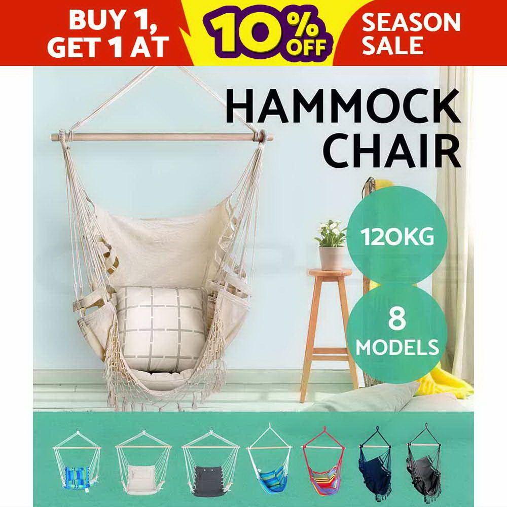 deluxe hanging hammock chair hammocks swing cushion outdoor indoor camping deluxe hanging hammock chair hammocks swing cushion outdoor indoor      rh   pinterest