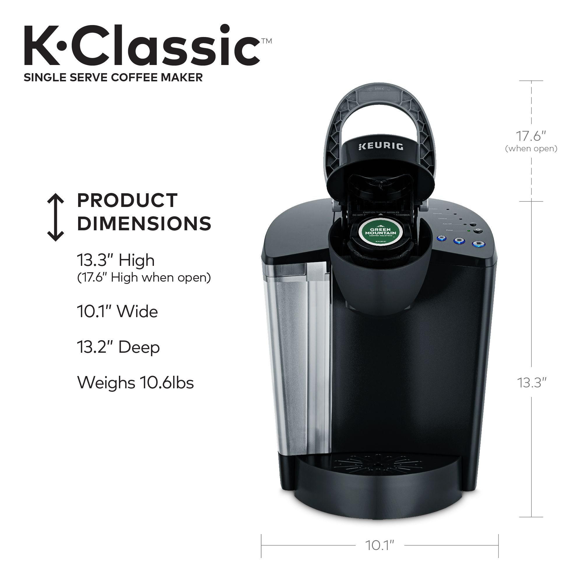 Keurig KClassic K50 Single Serve, KCup Pod Coffee Maker