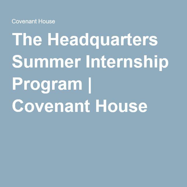The Headquarters Summer Internship Program | Covenant House