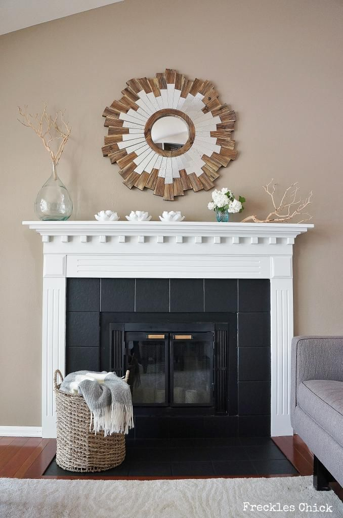 Painted Fireplace Tiles Worth A Try Instead Of Replacing With Black Marble Cost Savings