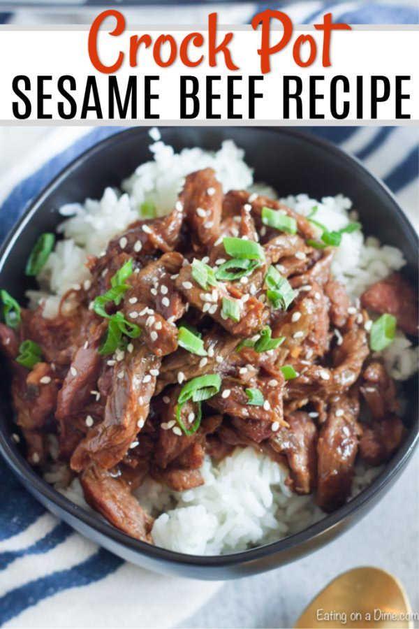 Crock pot Sesame Beef #healthycrockpots