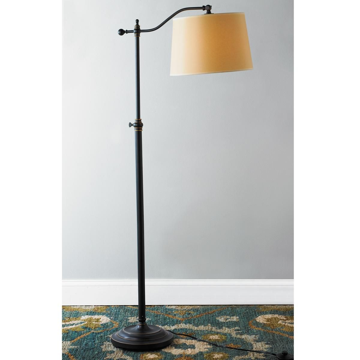 Arched bridge arm adjustable floor lamp