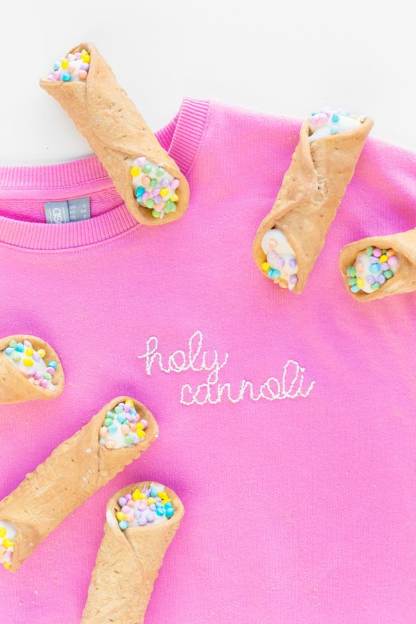 DIY Embroidered Sweatshirt (+ My Fave Easy Embroidery Hack!!) | studiodiy.com