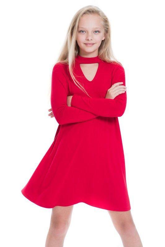 Tween Choker Neck Dress in Black | ::: Tweens Kids Fashion ...