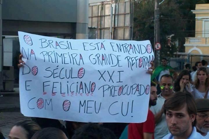 Feliciano tá preocupado com meu cu? #direitoshumanos #homofobia #racismo #curagay #NaoPec37 #VemPraRua #OGiganteAcordou #ForaFeliciano #ForaFelicianus #ForaRenan #ChangeBrazil  facebook