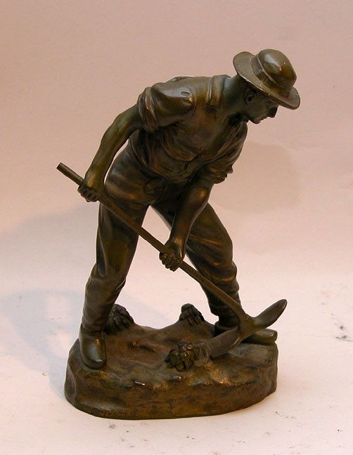 farmer statues large 1391 vintage bronze sculpture of farmer j garnier 7