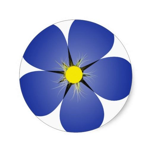 Forget me not classic round sticker