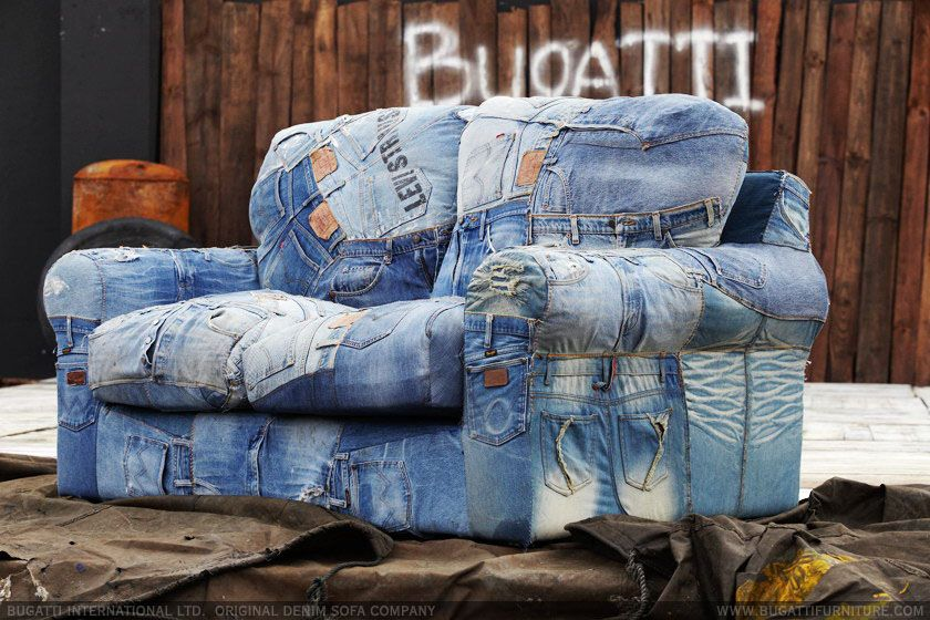 Jeans sofa bugatti furniture china ciff furniture market for Ohrensessel jeans
