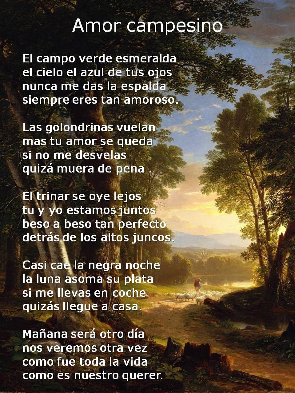 Poema Por El Dia Del Campesino Para Niños De Inicial Amor Campesino Poema De Amor Poemas Poema De Amor Campesinos