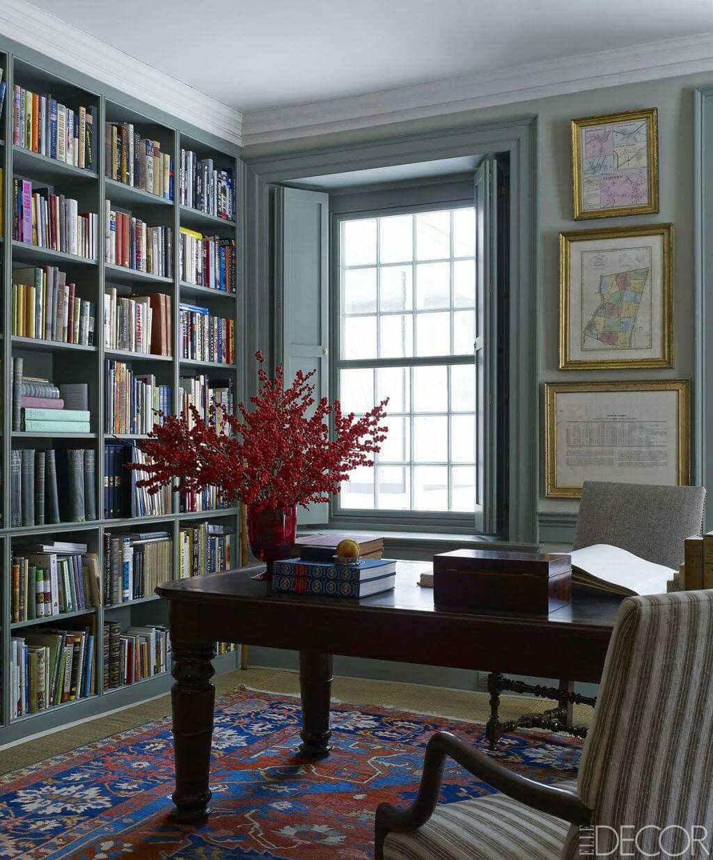 Bookshelves Library Home Library Library Table Table Center Of Room Home Decor House Interior Home