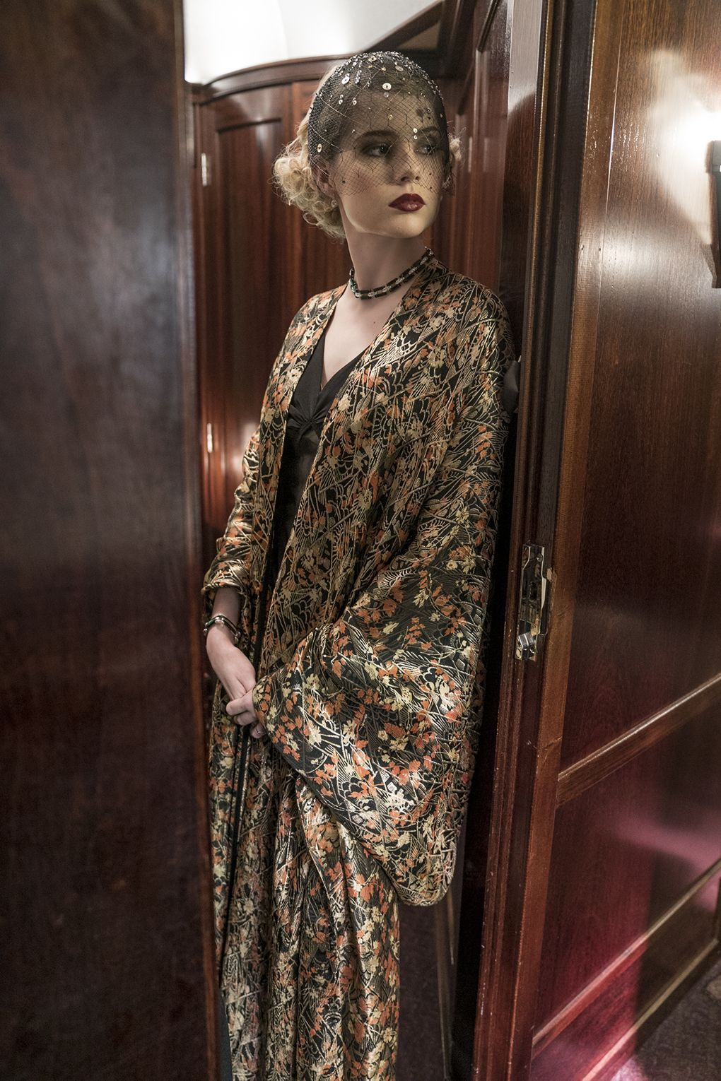 """""""Byrne says. """"Even though her garments were made from these beautiful vintage fabrics, it's never particularly easy to tell what she's wearing: a set of pajamas or an elaborate satin two-piece."""""""