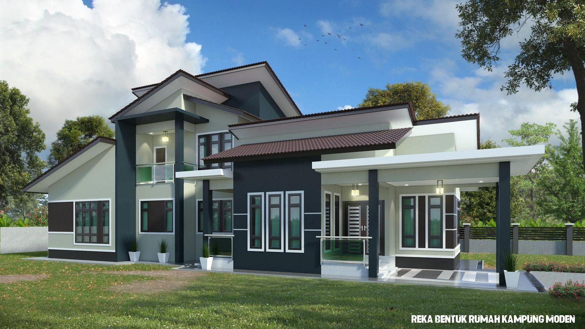 Koleksi Inspirasi Dari Reka Bentuk Rumah Kampung Moden Di 2020 Home Fashion Rumah Desain