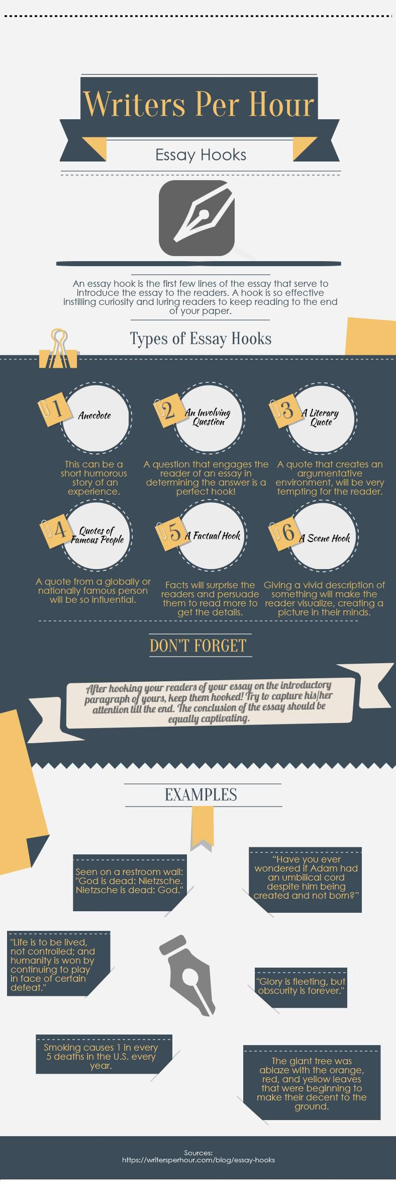 infographic on essay hooks be a better student education infographic on essay hooks be a better student education