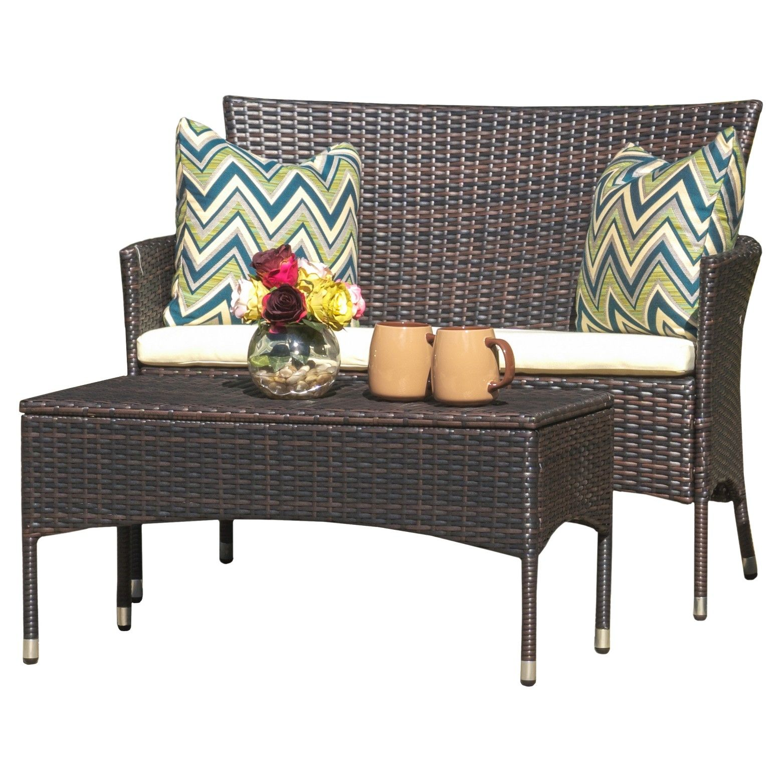 Christopher Knight Home Malta 2pc Outdoor Seating Set