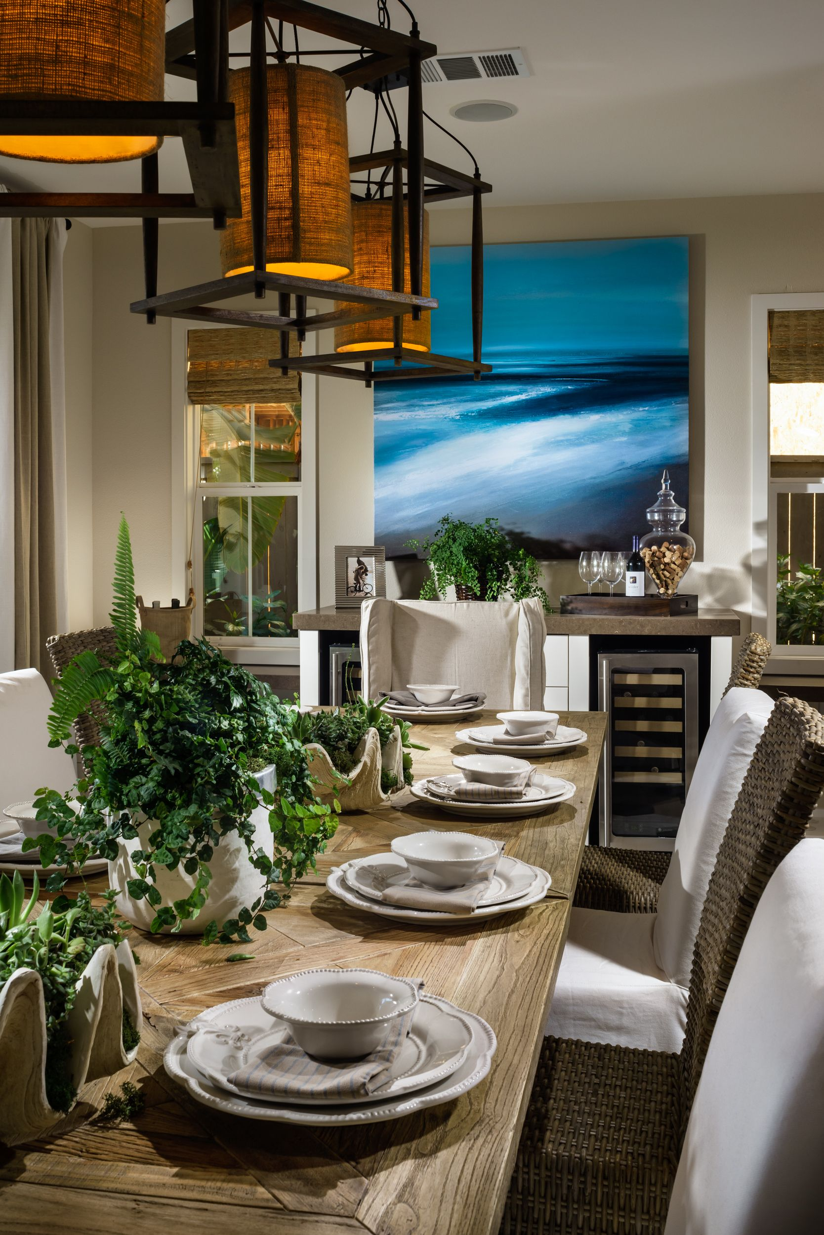 Dining Room Details Beach House SanDiego Design