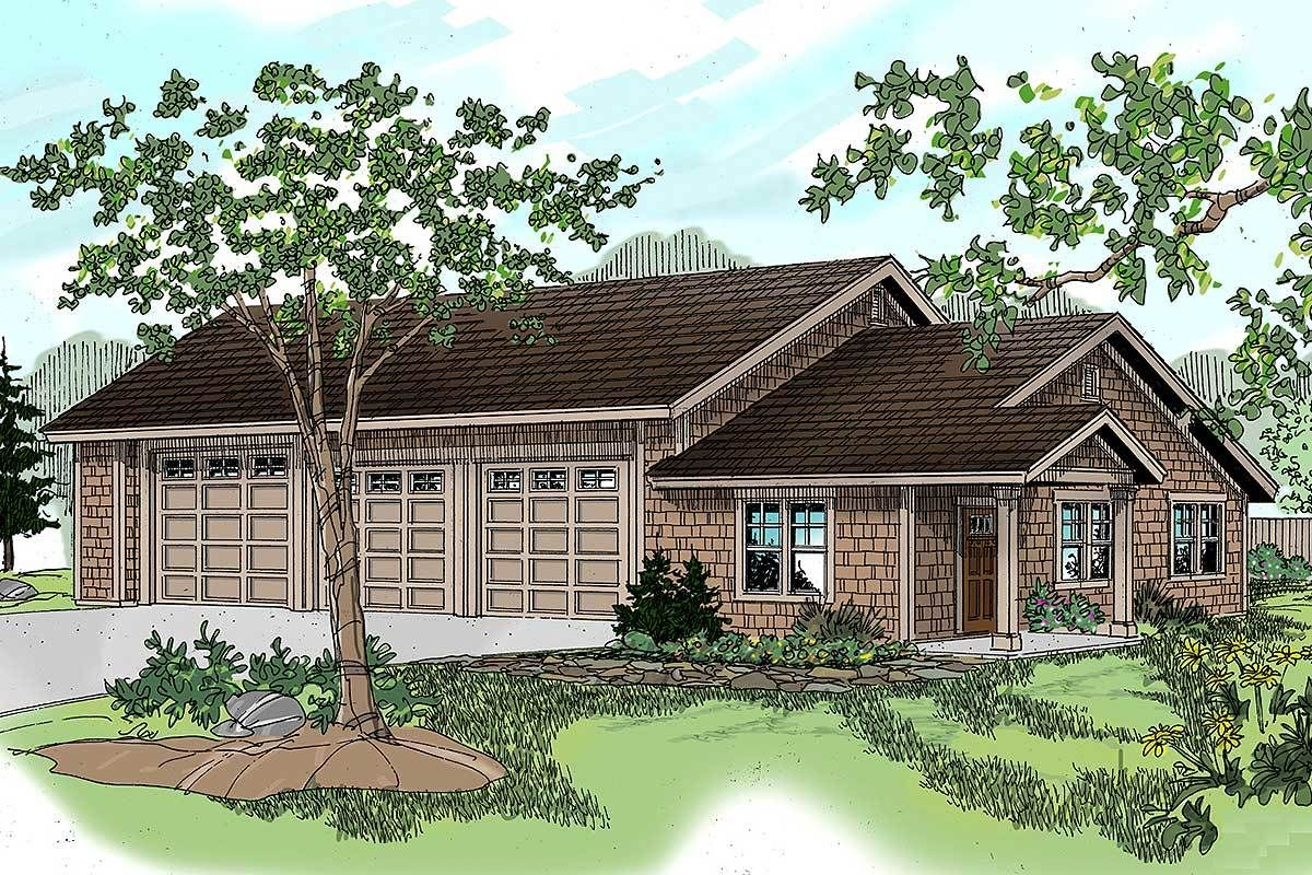 Plan 72668da Rv Garage With Rec Room In 2020 Craftsman Style House Plans Garage Plan Rv Garage