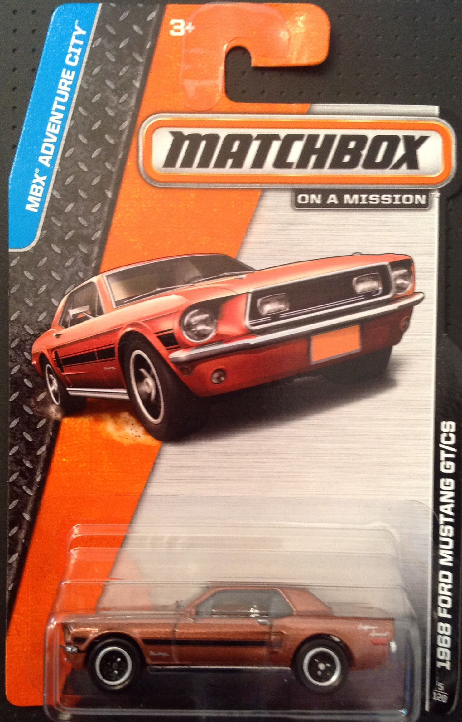 Matchbox on a Mission MBX Adventure City 5 120 1968 Ford Mustang