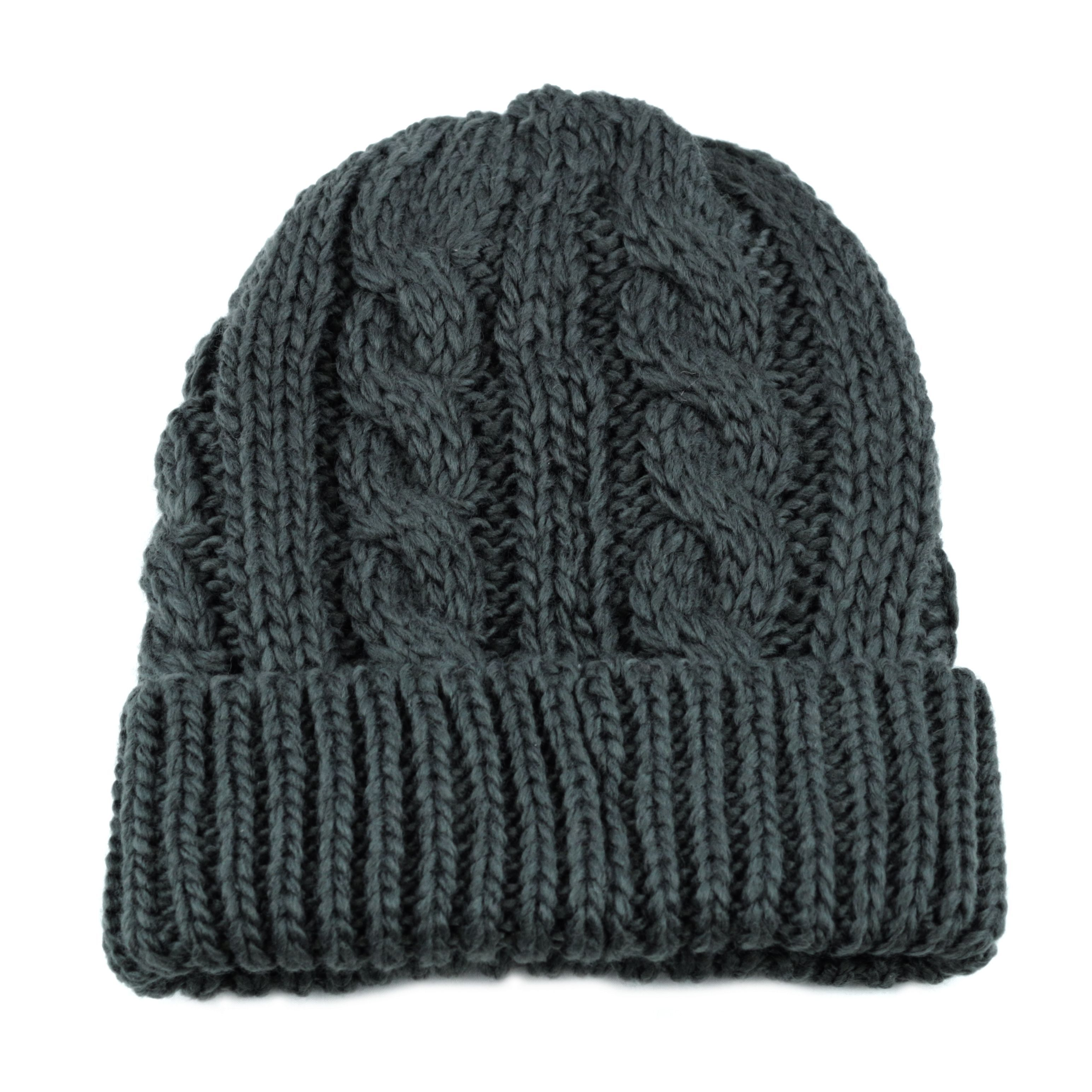 Knit Beanie with Fleece Lining Hat
