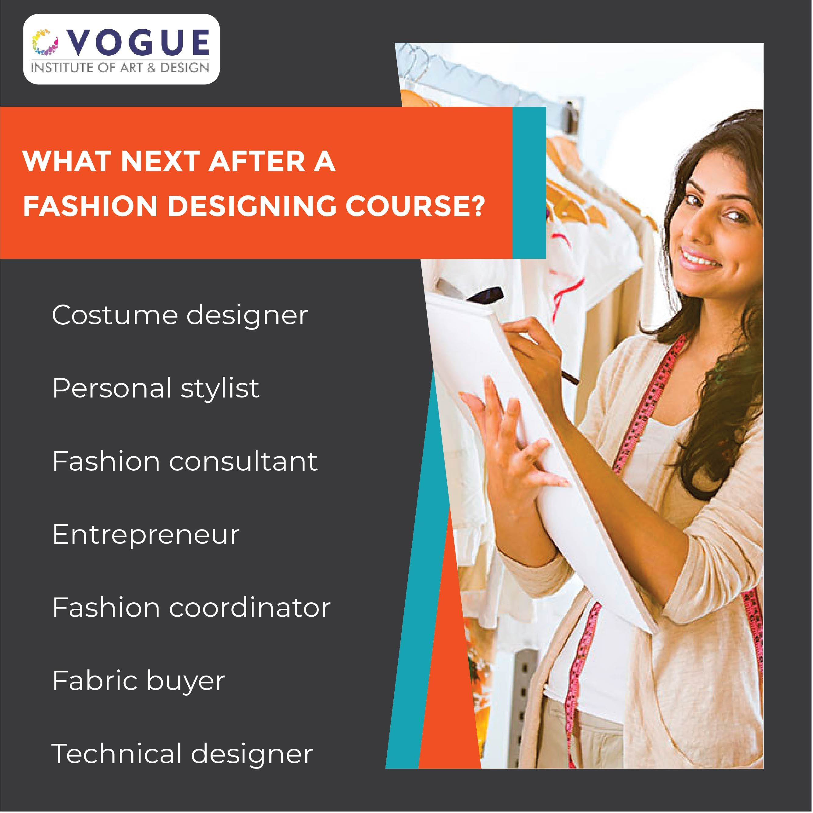 Career Options That You Can Explore After A Fashion Designing Course In 2020 Fashion Designing Course Personal Fashion Stylist Entrepreneur Fashion