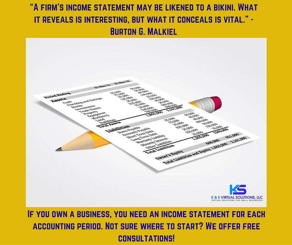 An income statement measures the financial results of your business