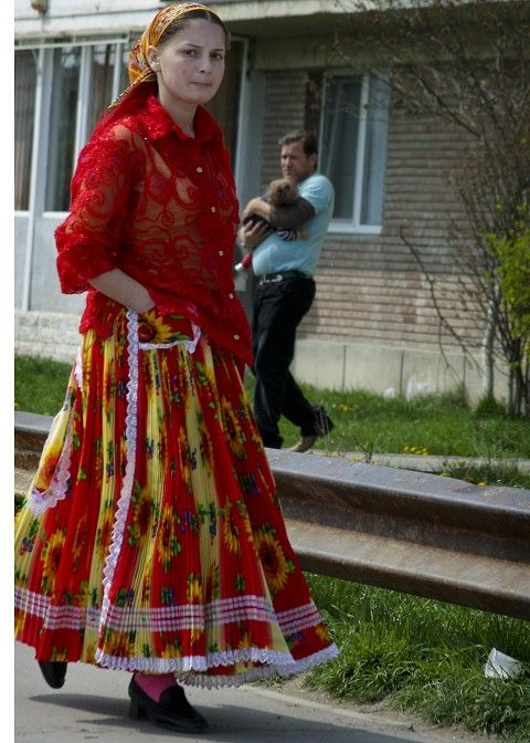 Romany gypsy style dress