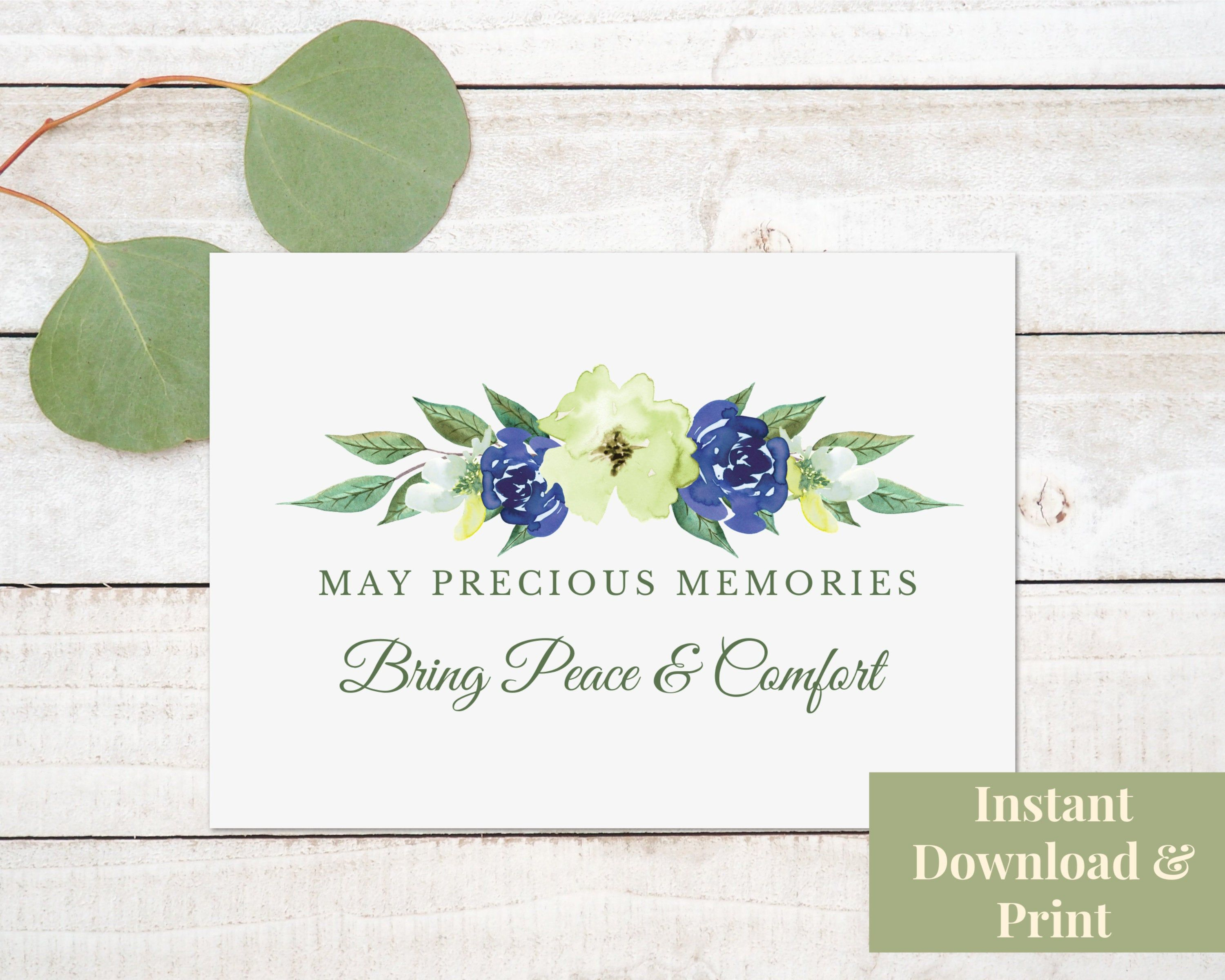 Sympathy Card Printable With Deepest Sympathy Condolences Card Bereavement Card Instant Downloa Condolence Card Printable Cards Mother S Day Greeting Cards