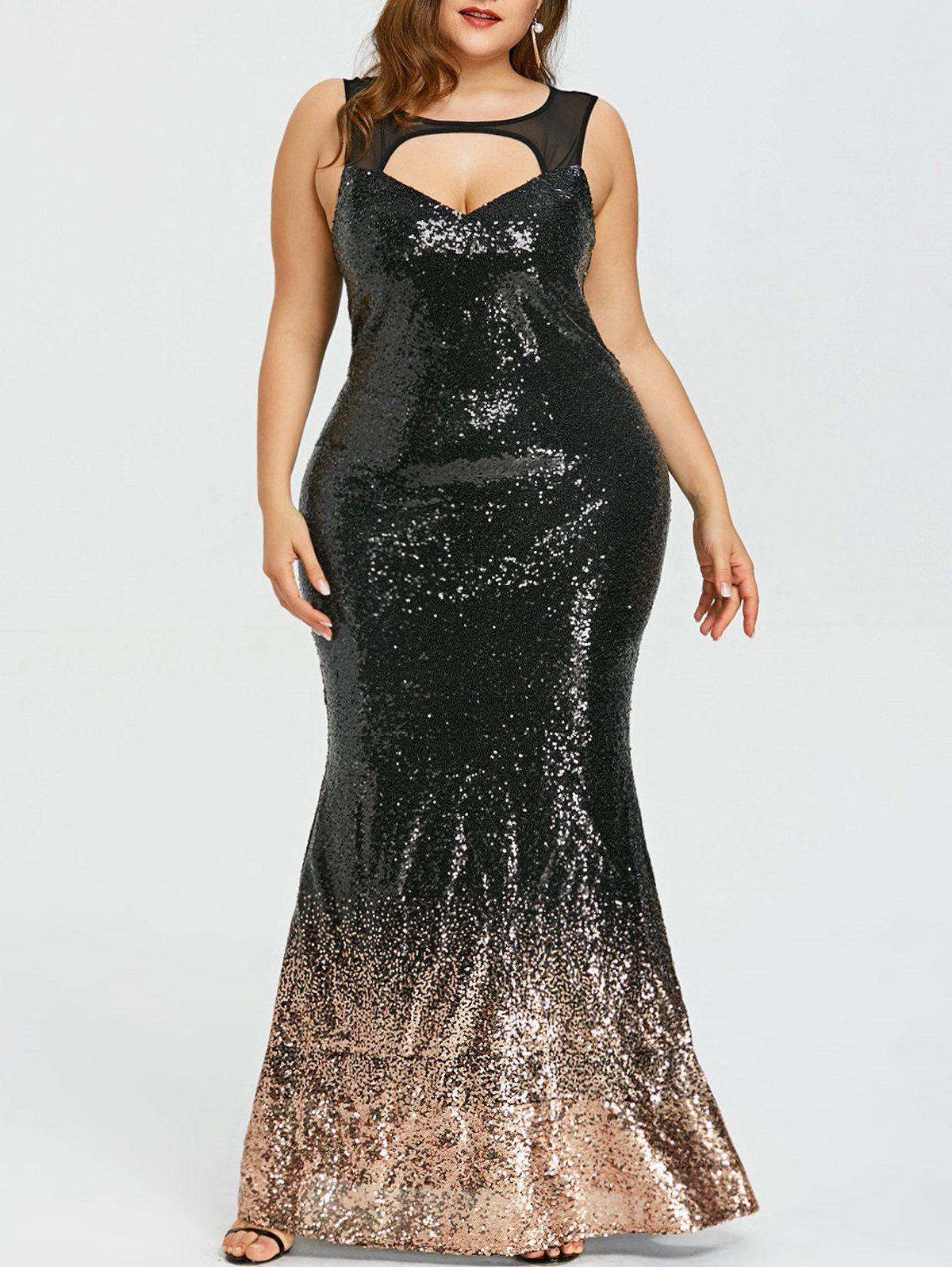 Plus Size Open Back Sparkly Prom Dress Dresses Prom Dresses