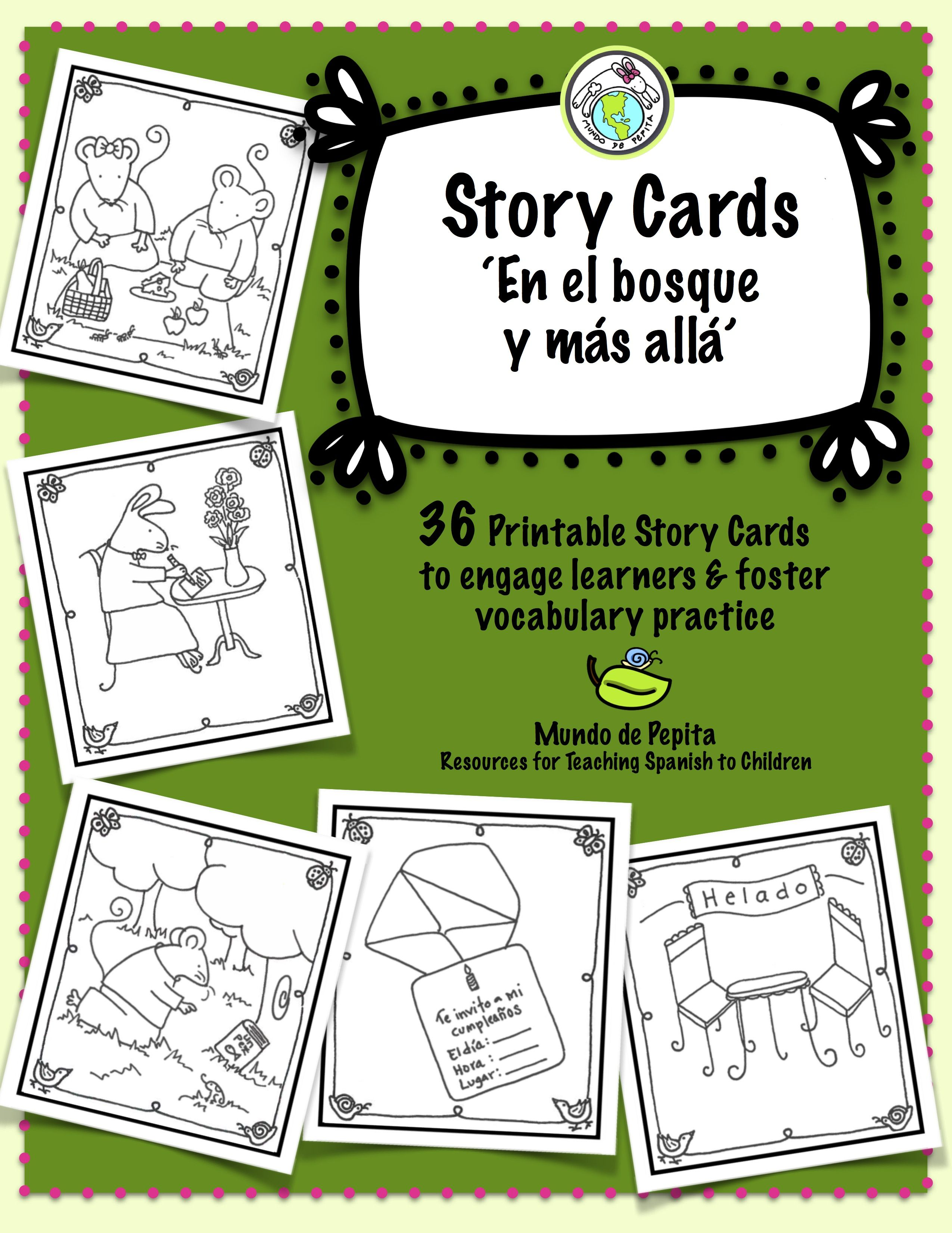 Story Card Set Of 36 Printable Story Telling Cards For