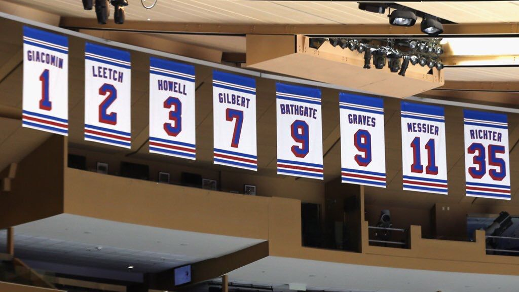 Legends NYR Retired Numbers Banners Rangers hockey, New