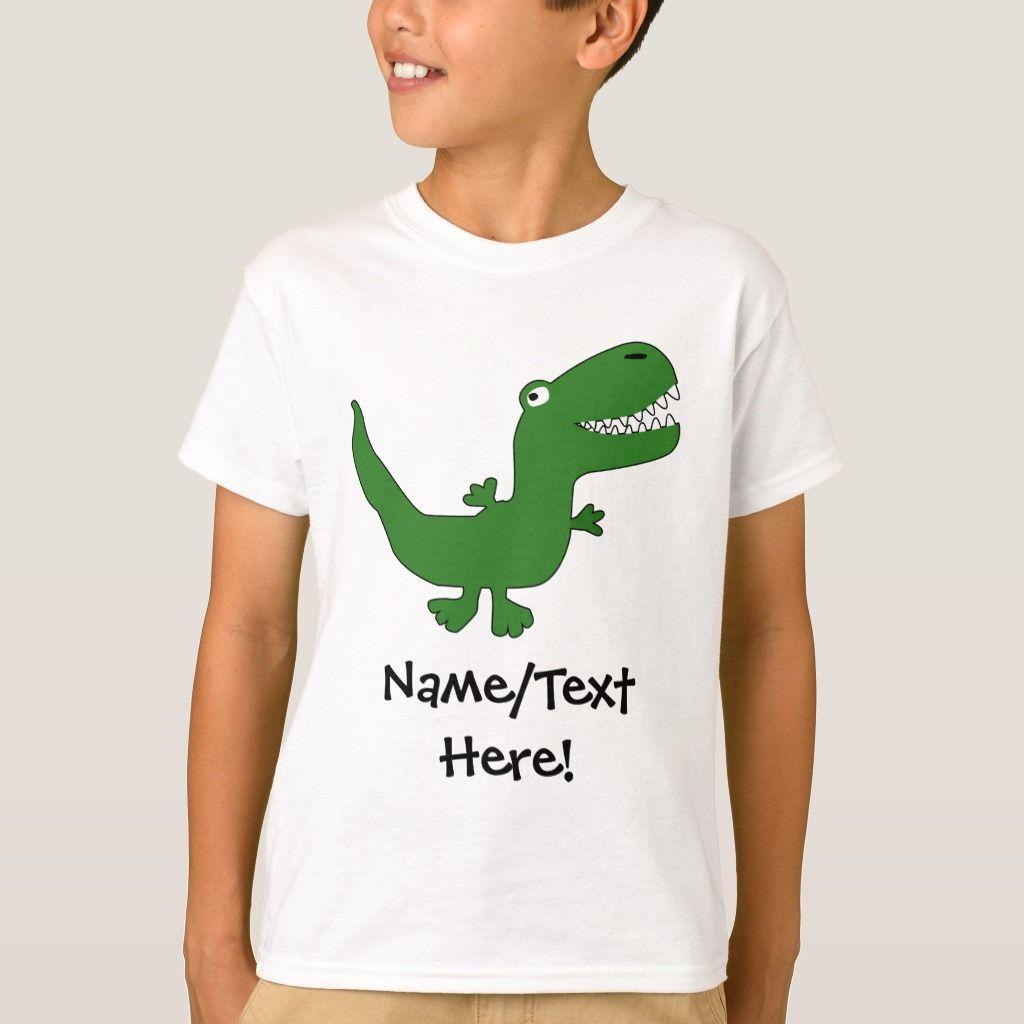 T-Rex Tyrannosaurus Rex Dinosaur Cartoon Kids Boys T-shirt, Kids Unisex, Size: Youth M, White #tyrannosaurusrex