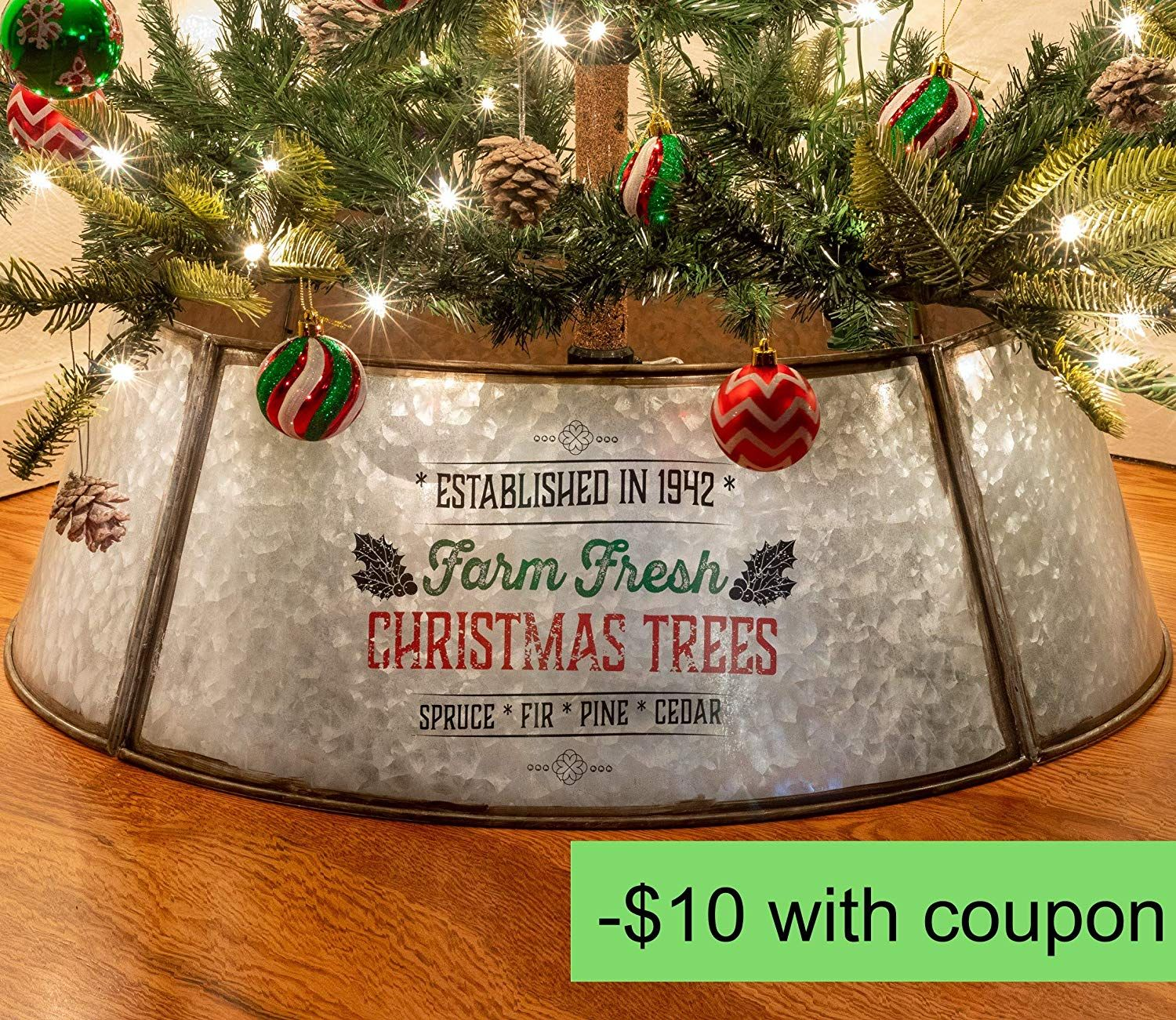 Rustic Christmas Tree Collar Authentic Farmhouse Easy