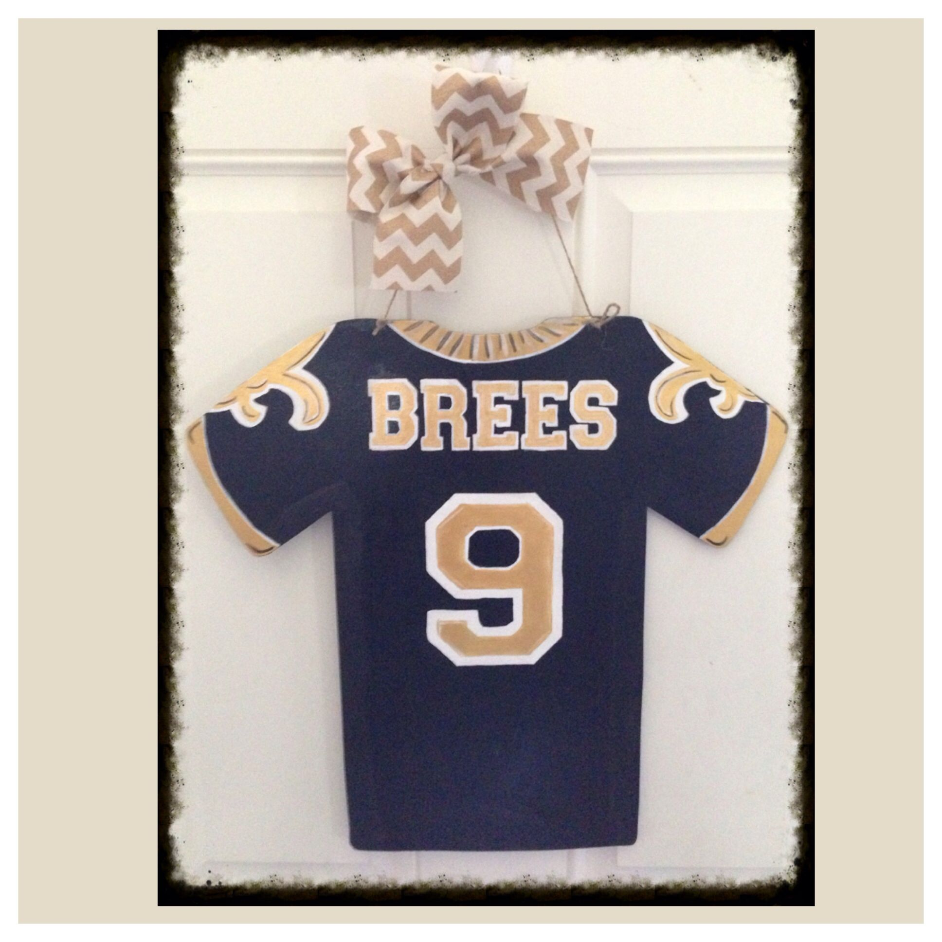 Saints Jersey Door Hanger Door Hangers Pinterest