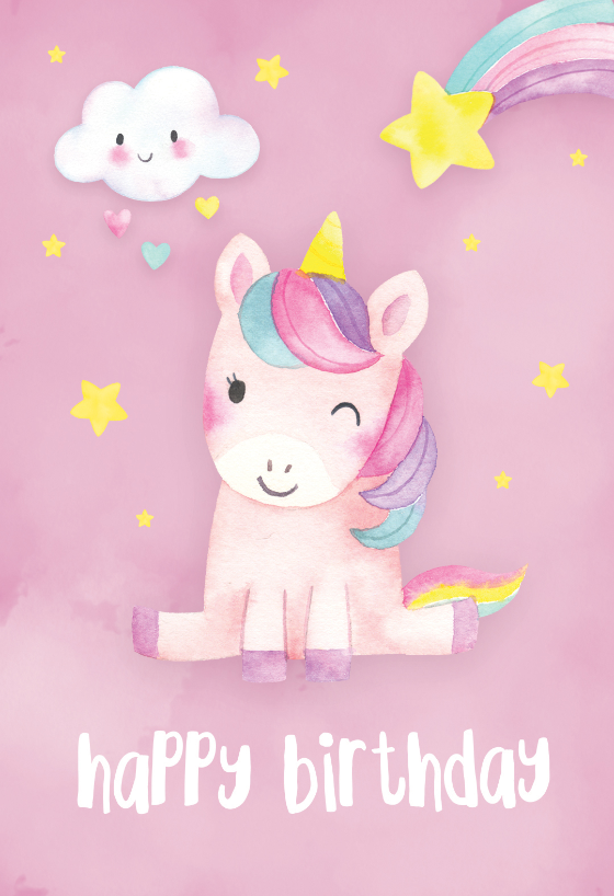 Happiest Unicorn Birthday Card Free Greetings Island Happy Birthday Cards Printable Unicorn Birthday Cards Happy Birthday Cards