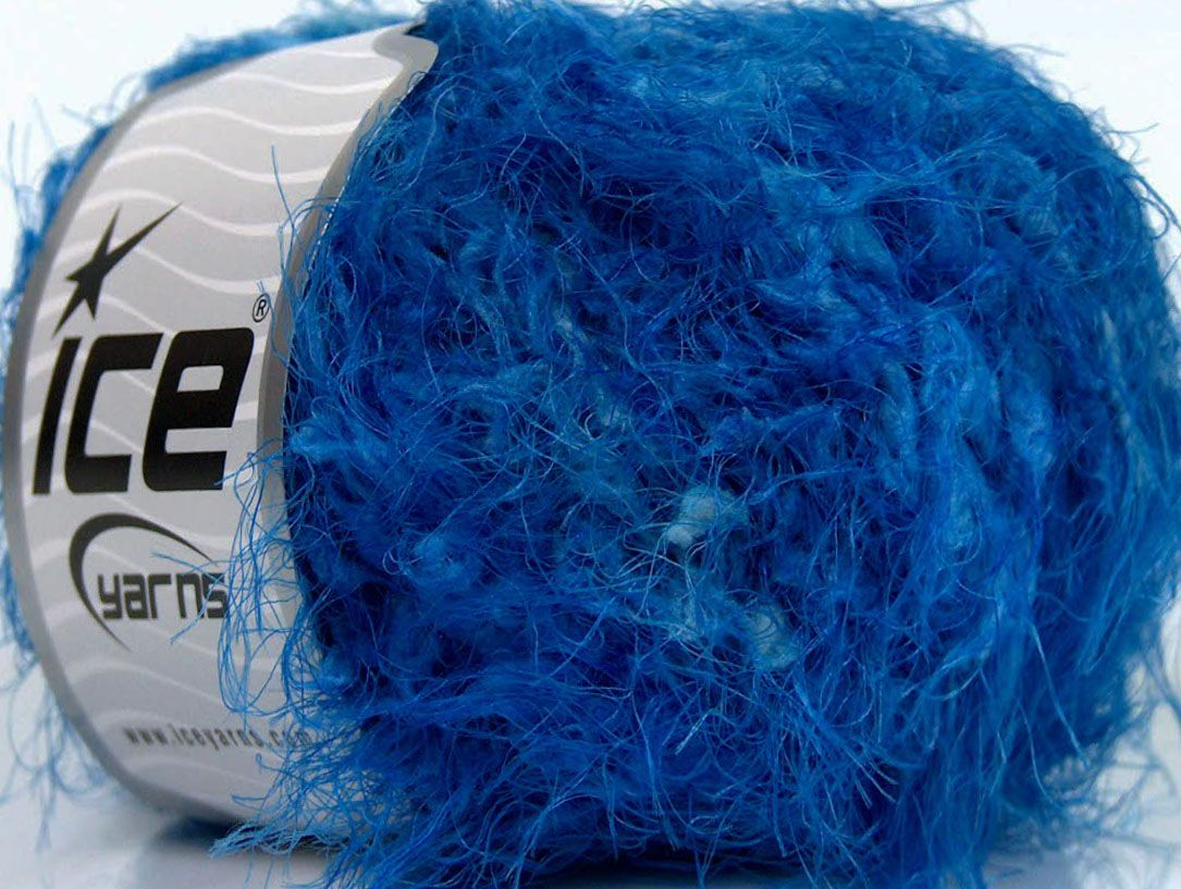 Fiber content 100 polyamide brand ice yarns blue shades