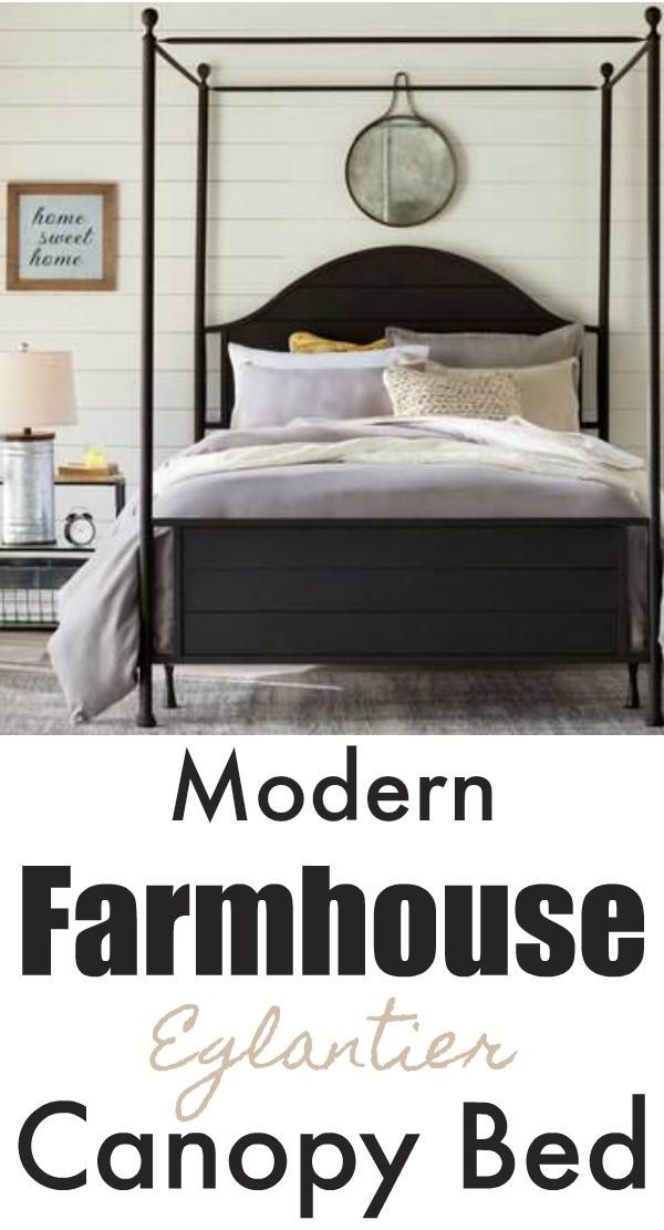 Best Laurel Foundry Modern Farmhouse Eglantier Canopy Bed 400 x 300