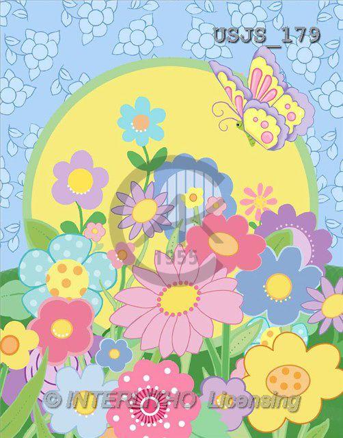 Janet, FLOWERS, paintings, J. flower pattern2(USJS179,#F#) Blumen, flores, illustrations, pinturas