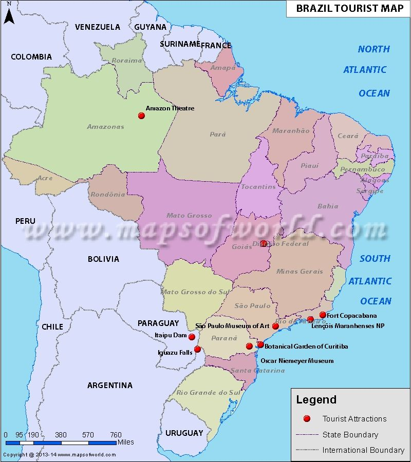Brazil Travel Map Maps and tips to travel Pinterest Travel