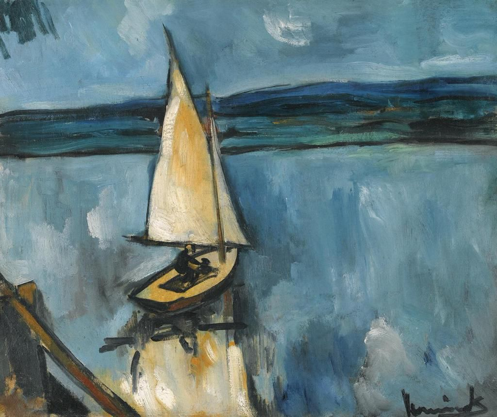 maurice de vlaminck les bateaux voile poissy du vent dans les voiles. Black Bedroom Furniture Sets. Home Design Ideas