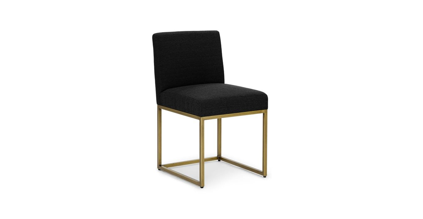 Oscuro Pure Black Dining Chair