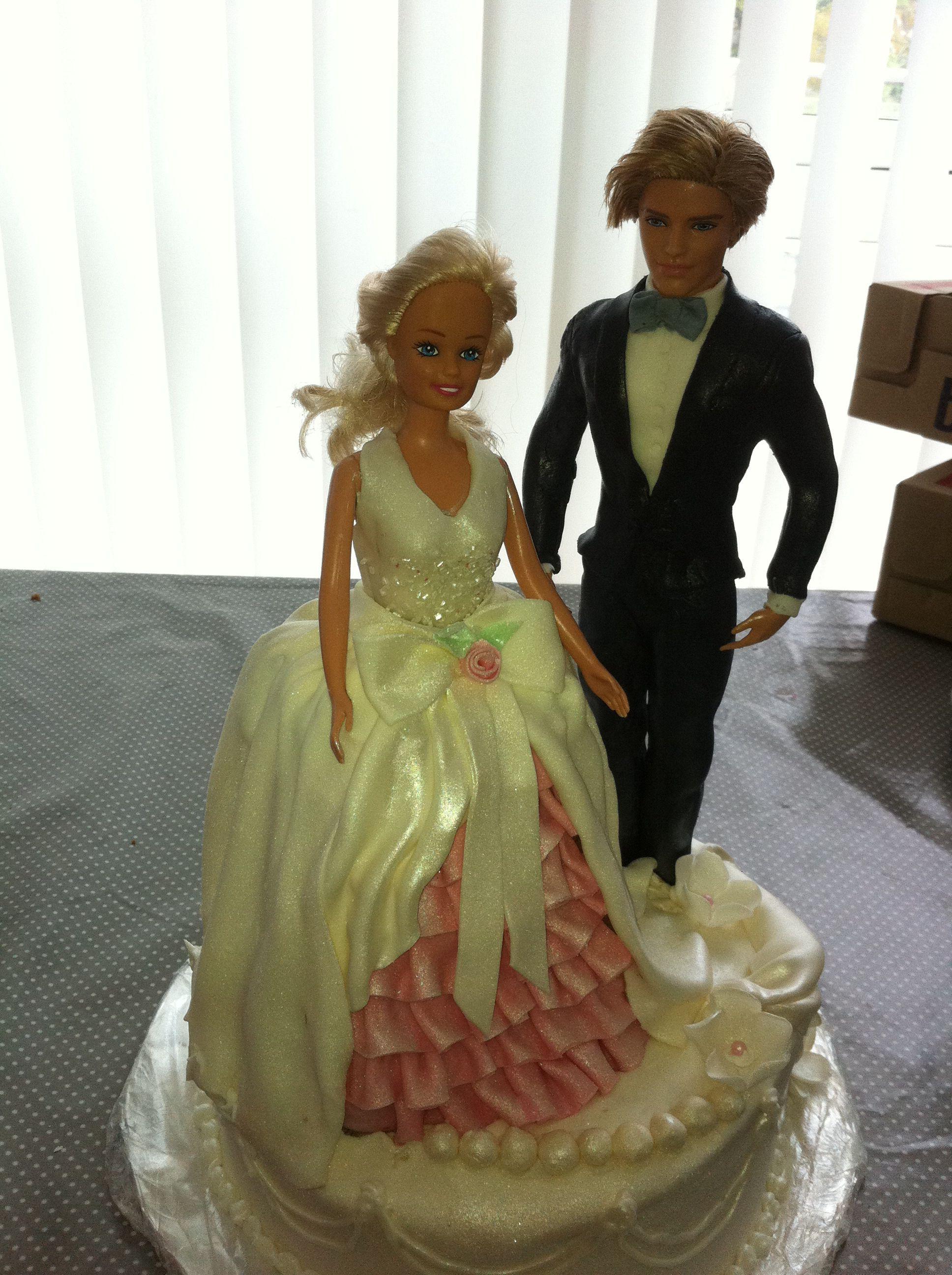 Barbie and Ken wedding cake